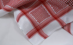 White/Red Textured Shemagh
